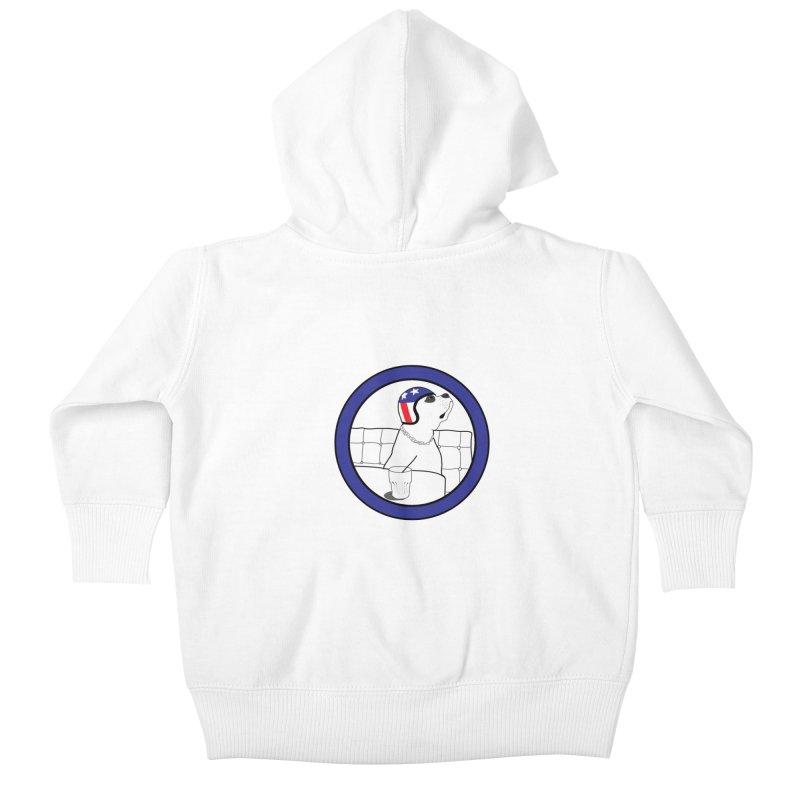 Awesome Dog Kids Baby Zip-Up Hoody by Shirts That Never Happened