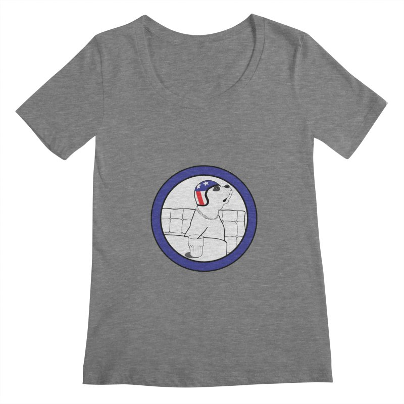 Awesome Dog Women's Scoopneck by Shirts That Never Happened