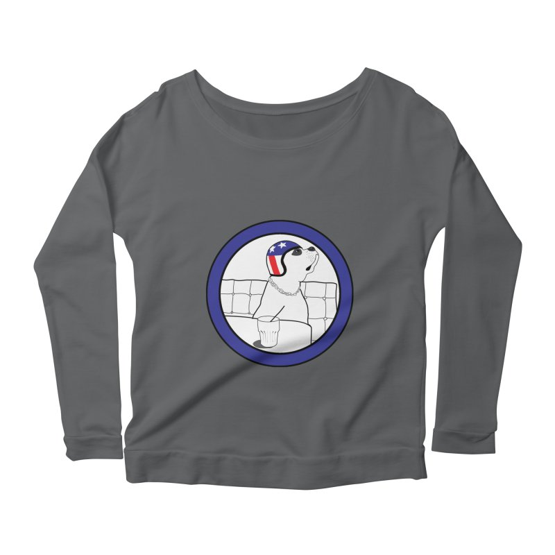 Awesome Dog Women's Scoop Neck Longsleeve T-Shirt by Shirts That Never Happened