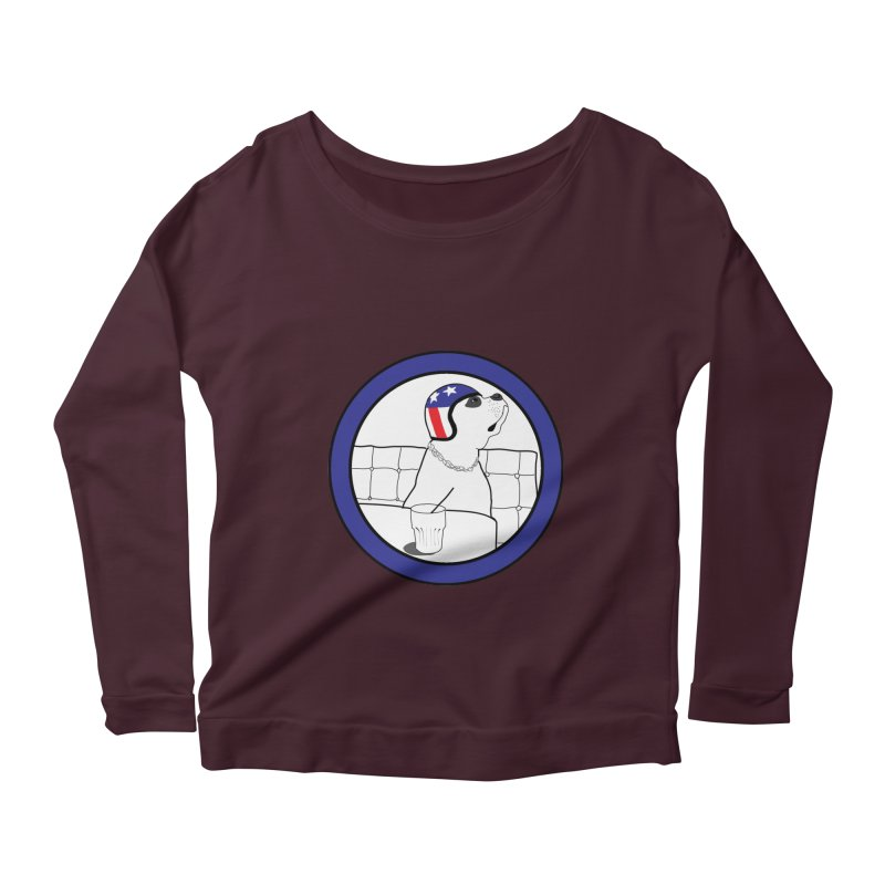 Awesome Dog Women's Longsleeve Scoopneck  by Shirts That Never Happened