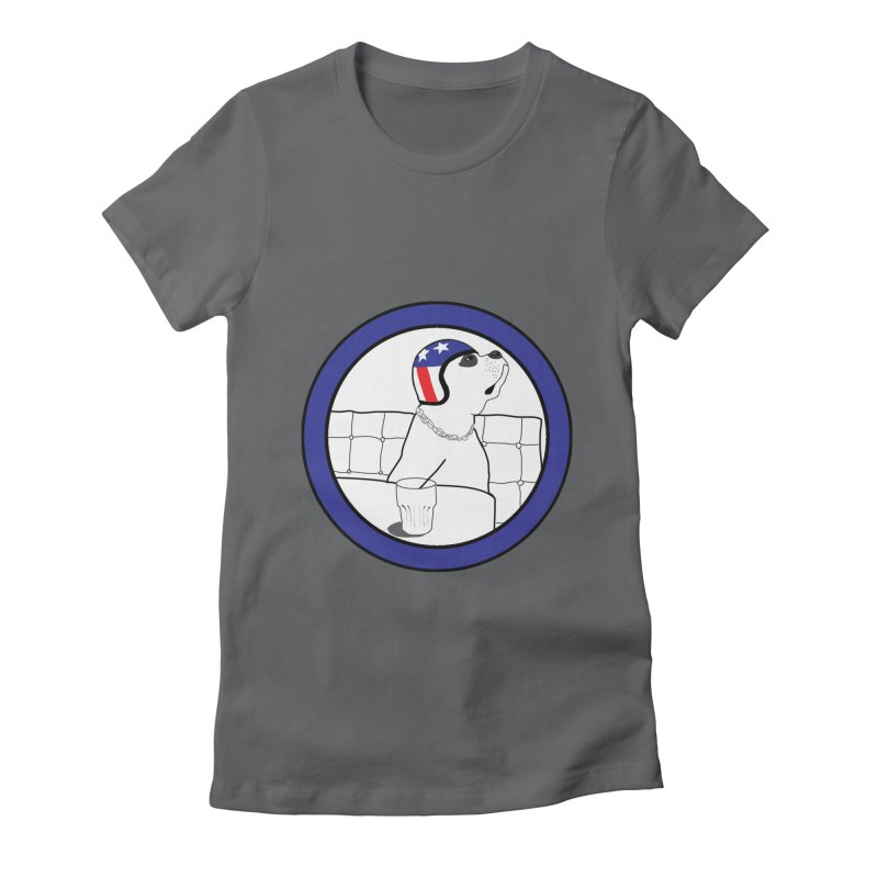 Awesome Dog Women's Fitted T-Shirt by Shirts That Never Happened