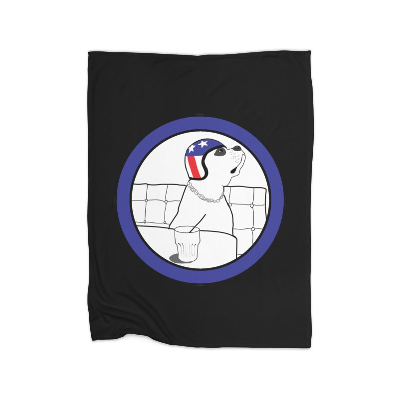 Awesome Dog Home Fleece Blanket Blanket by Shirts That Never Happened