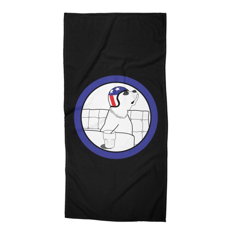 Awesome Dog Accessories Beach Towel by Shirts That Never Happened
