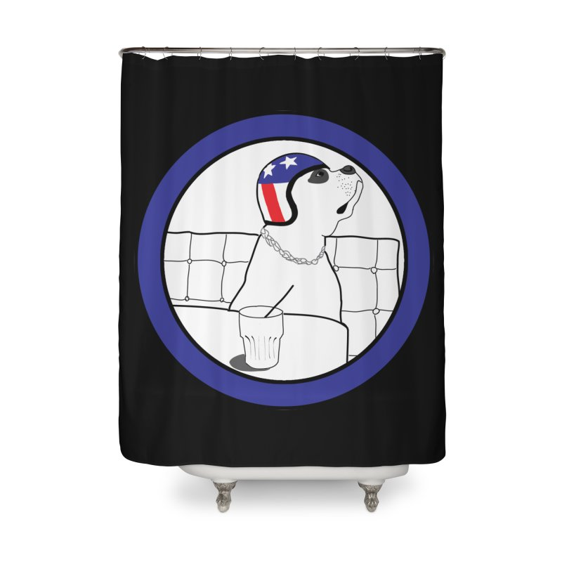 Awesome Dog Home Shower Curtain by Shirts That Never Happened