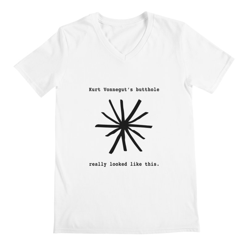 Kurt Vonnegut's Butthole Men's V-Neck by Shirts That Never Happened