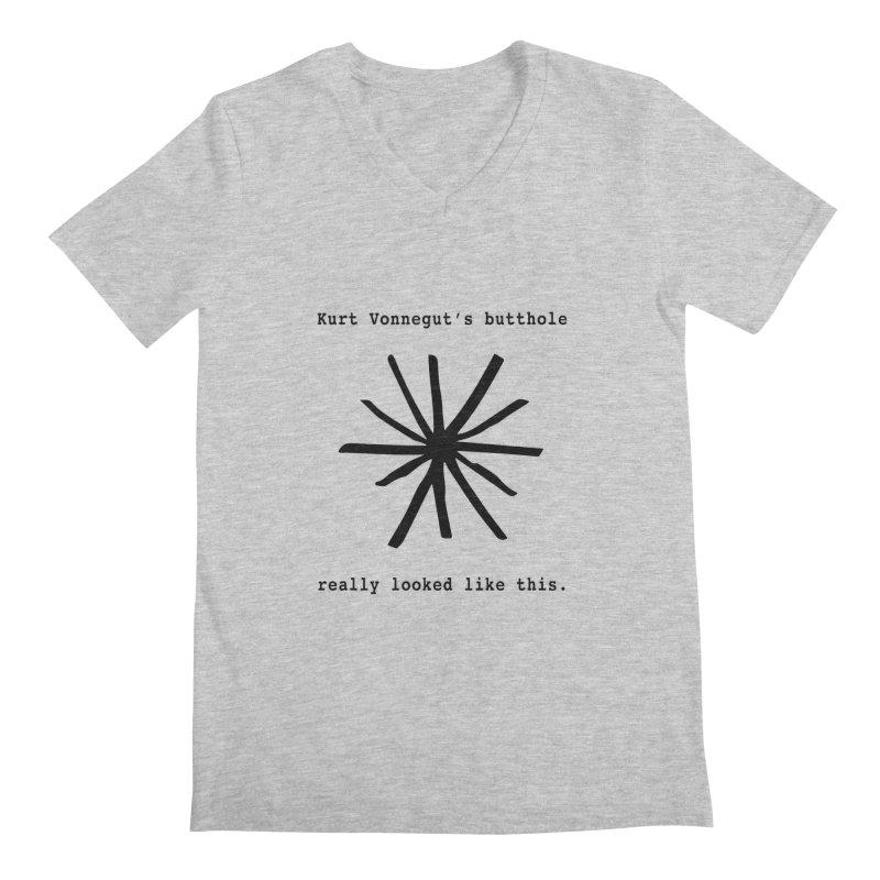 Kurt Vonnegut's Butthole Men's V-Neck by Shirts That Never Happened