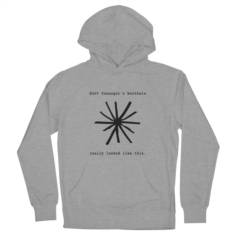 Kurt Vonnegut's Butthole Women's Pullover Hoody by Shirts That Never Happened