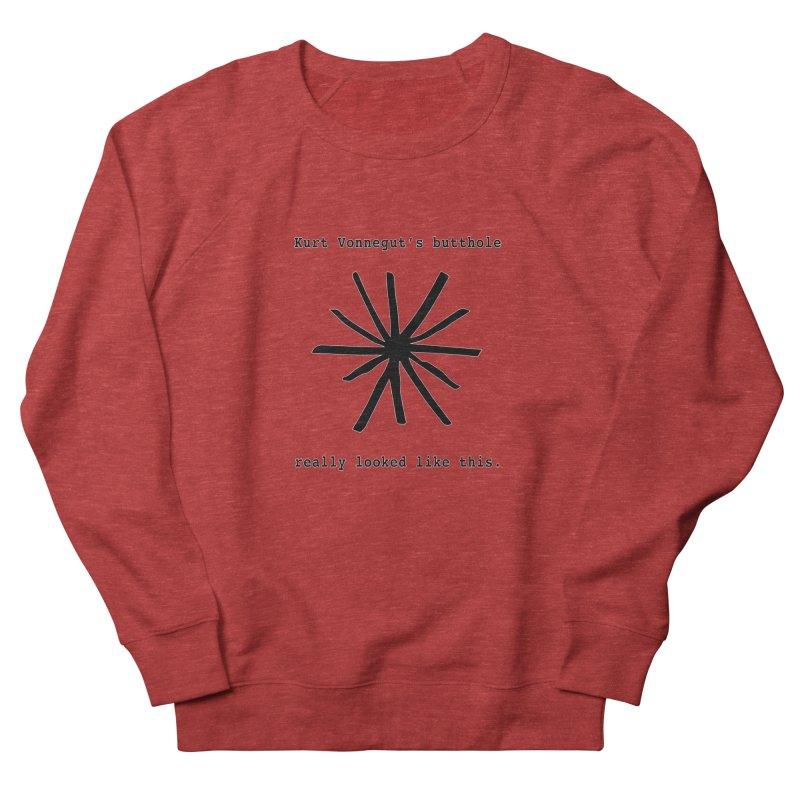 Kurt Vonnegut's Butthole Women's Sweatshirt by Shirts That Never Happened
