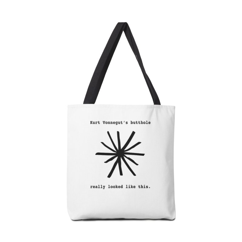Kurt Vonnegut's Butthole Accessories Bag by Shirts That Never Happened