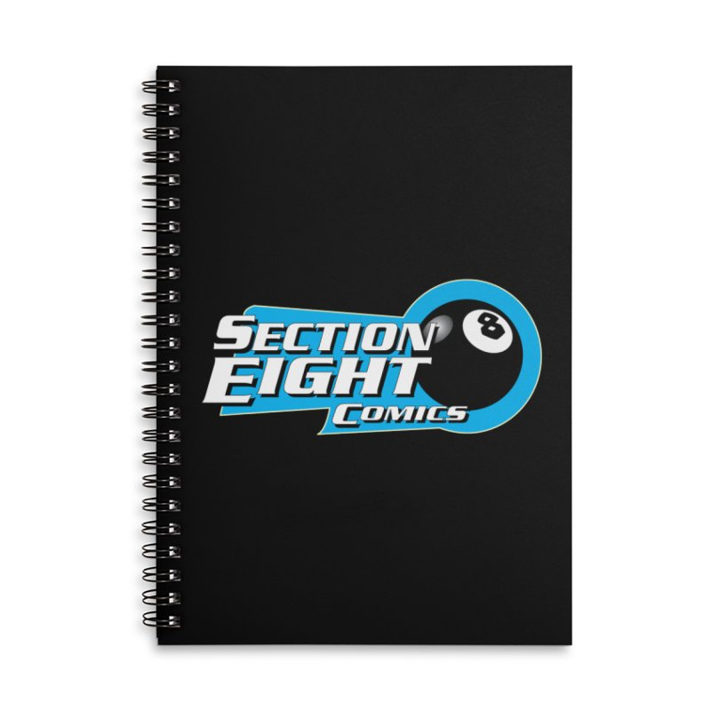 SECTION 8 COMICS Accessories Lined Spiral Notebook by The8spot's Artist Shop