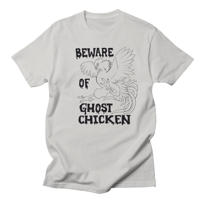 Beware of Ghost Chicken Men's French Terry Zip-Up Hoody by The8spot's Artist Shop