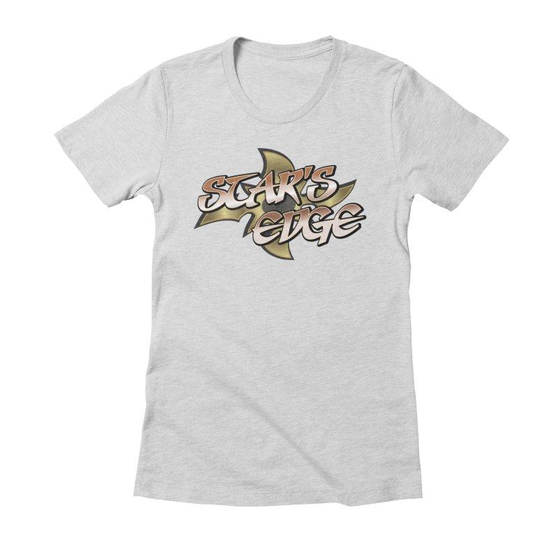 Stars Edge Logo Shirt Women's Fitted T-Shirt by The8spot's Artist Shop