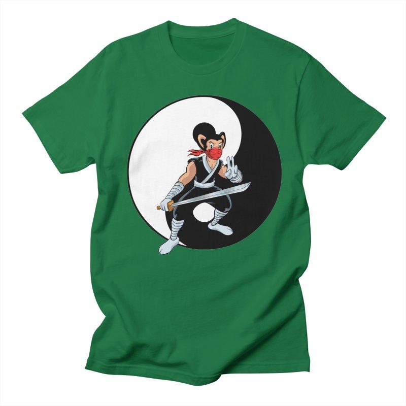 Ninja Mouse Ying Yang  Men's T-Shirt by The8spot's Artist Shop