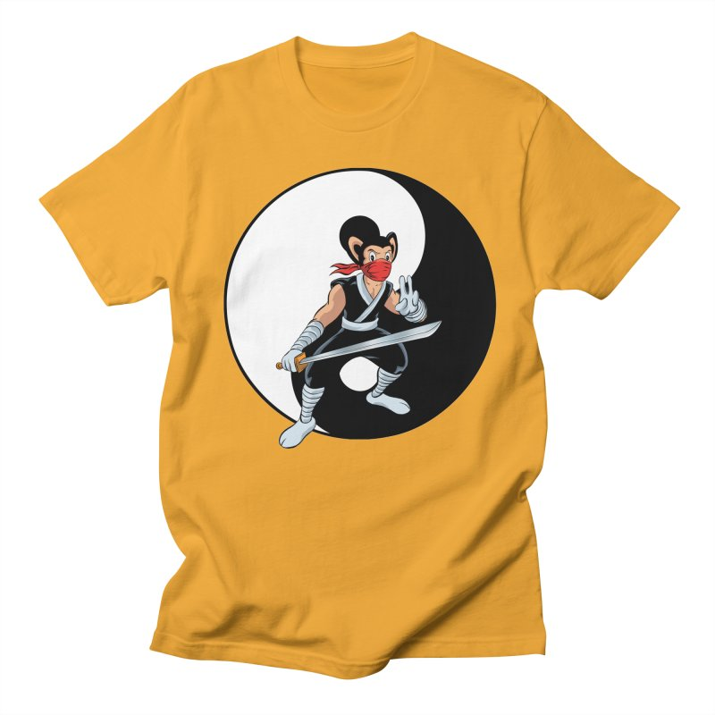 Ninja Mouse Ying Yang  Men's T-Shirt by The8spot's Artist Shop
