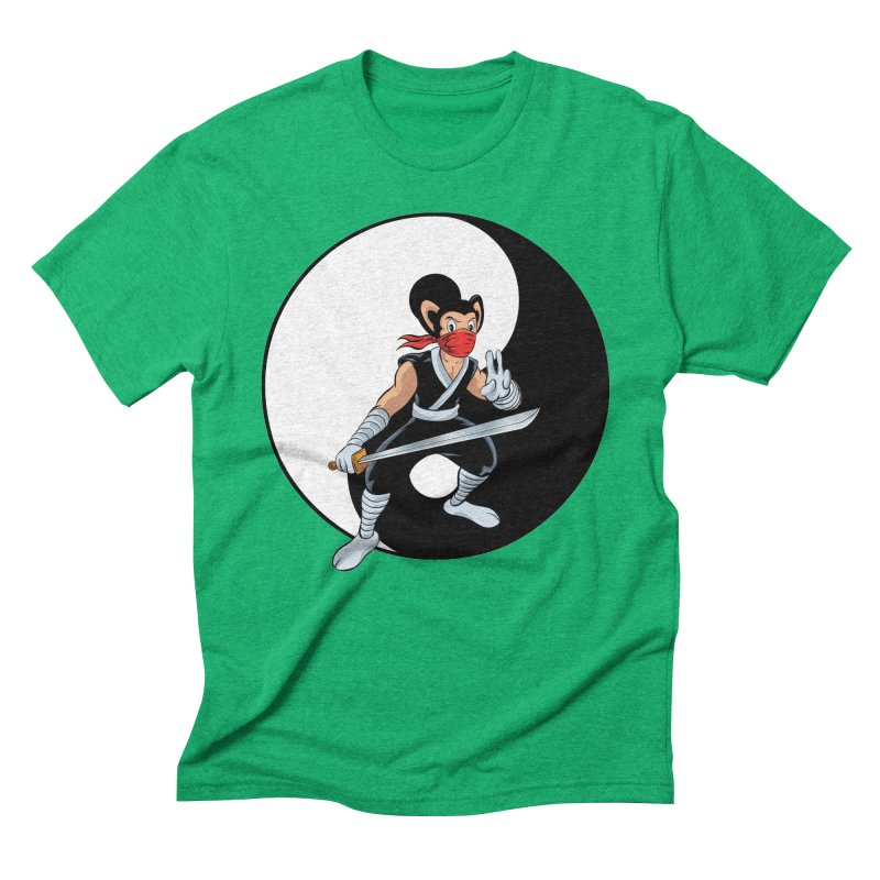 Ninja Mouse Ying Yang  Men's Triblend T-Shirt by The8spot's Artist Shop