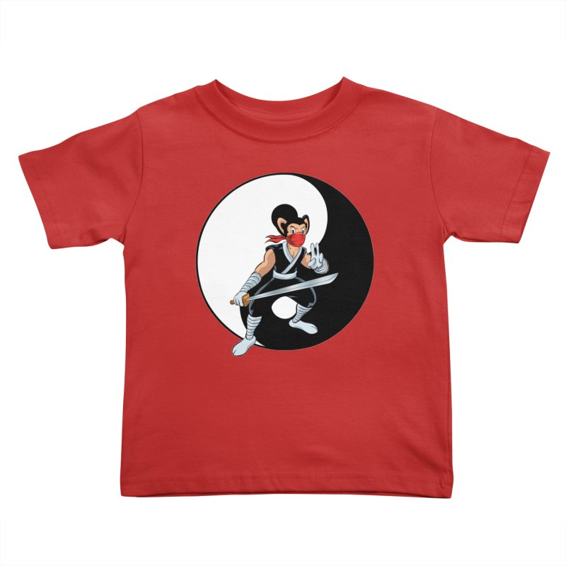 Ninja Mouse Ying Yang  Kids Toddler T-Shirt by The8spot's Artist Shop