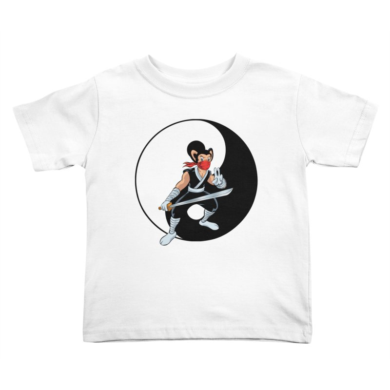 Ninja Mouse Ying Yang  Kids Toddler T-Shirt by The8spot's Artist Shop