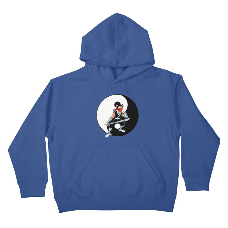 Ninja Mouse Ying Yang  Kids Pullover Hoody by The8spot's Artist Shop