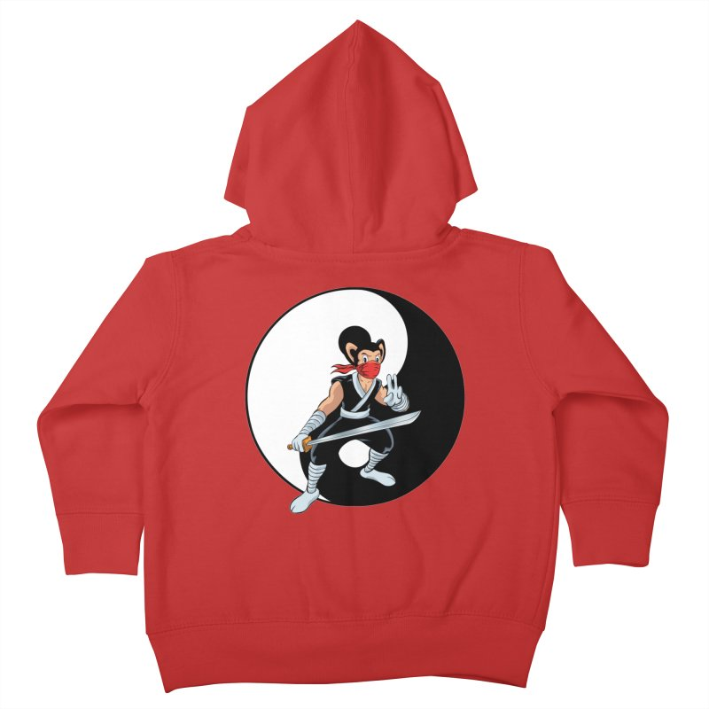 Ninja Mouse Ying Yang  Kids Toddler Zip-Up Hoody by The8spot's Artist Shop