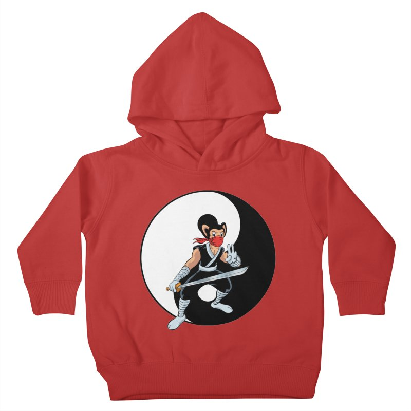 Ninja Mouse Ying Yang  Kids Toddler Pullover Hoody by The8spot's Artist Shop