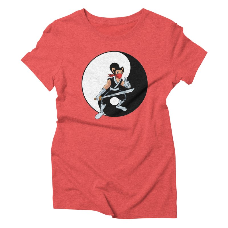Ninja Mouse Ying Yang  Women's Triblend T-Shirt by The8spot's Artist Shop