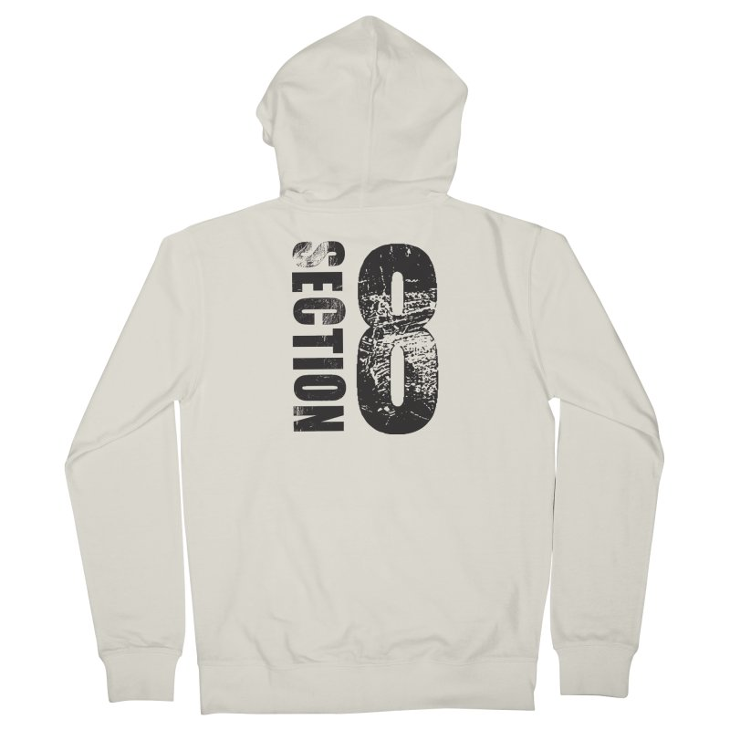 Section 8 Stressed logo Men's Zip-Up Hoody by The8spot's Artist Shop