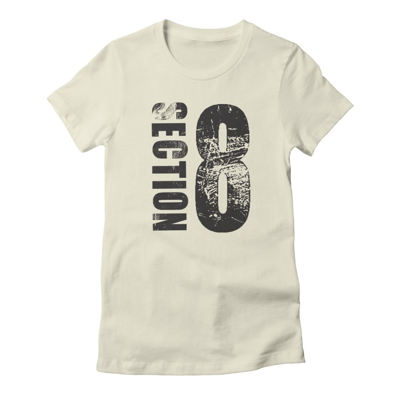 Section 8 Stressed logo Women's Fitted T-Shirt by The8spot's Artist Shop