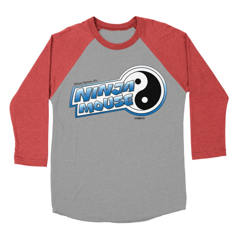 Ninja Mouse logo Men's Baseball Triblend T-Shirt by The8spot's Artist Shop