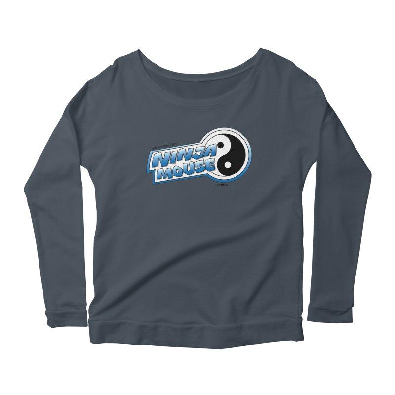 Ninja Mouse logo Women's Scoop Neck Longsleeve T-Shirt by The8spot's Artist Shop