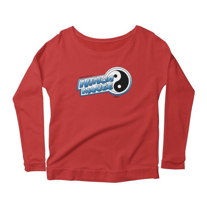 Ninja Mouse logo Women's Longsleeve Scoopneck  by The8spot's Artist Shop