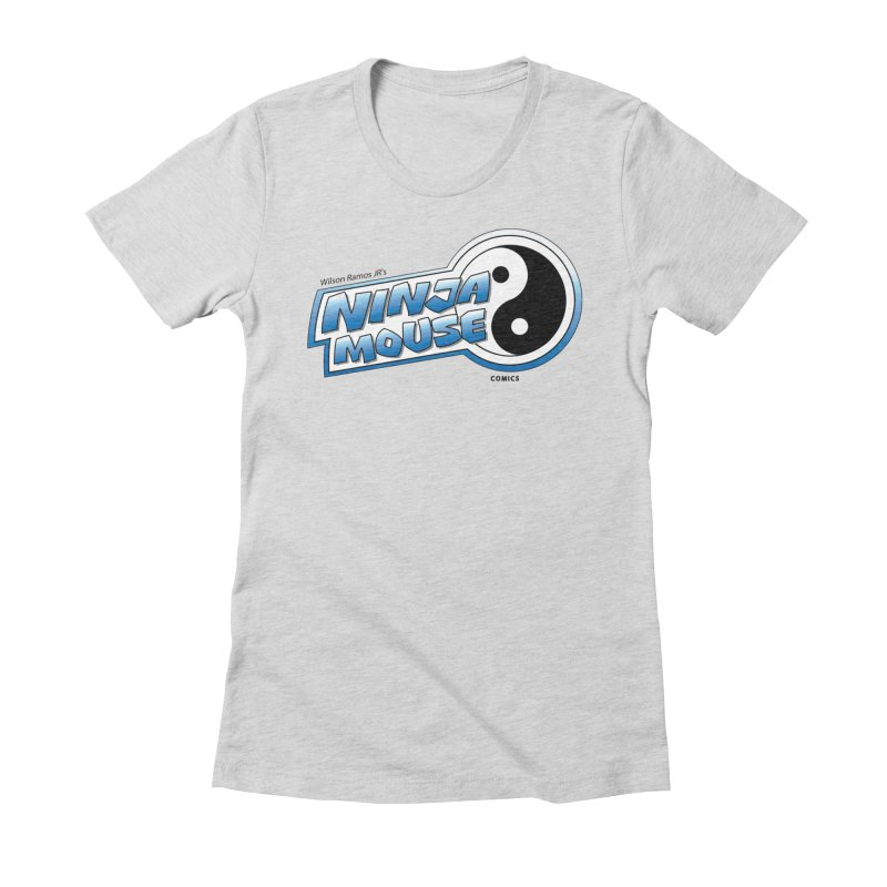Ninja Mouse logo Women's Fitted T-Shirt by The8spot's Artist Shop