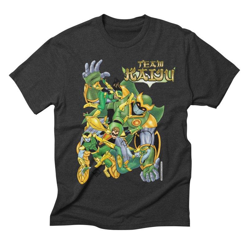 Team Kaiju Falling  Men's Triblend T-shirt by The8spot's Artist Shop