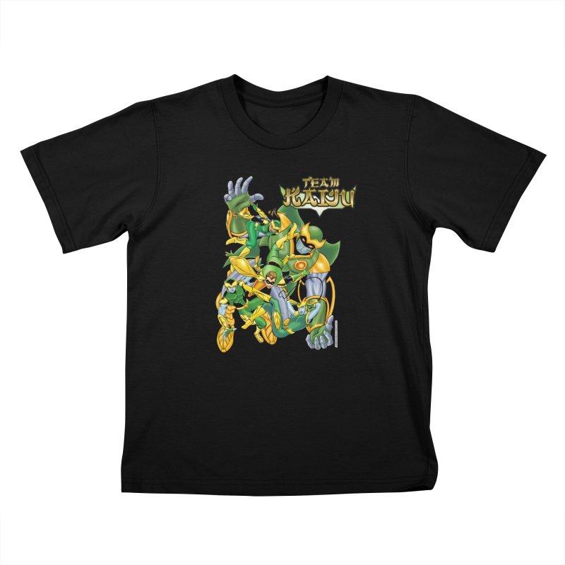 Team Kaiju Falling  Kids Toddler T-Shirt by The8spot's Artist Shop