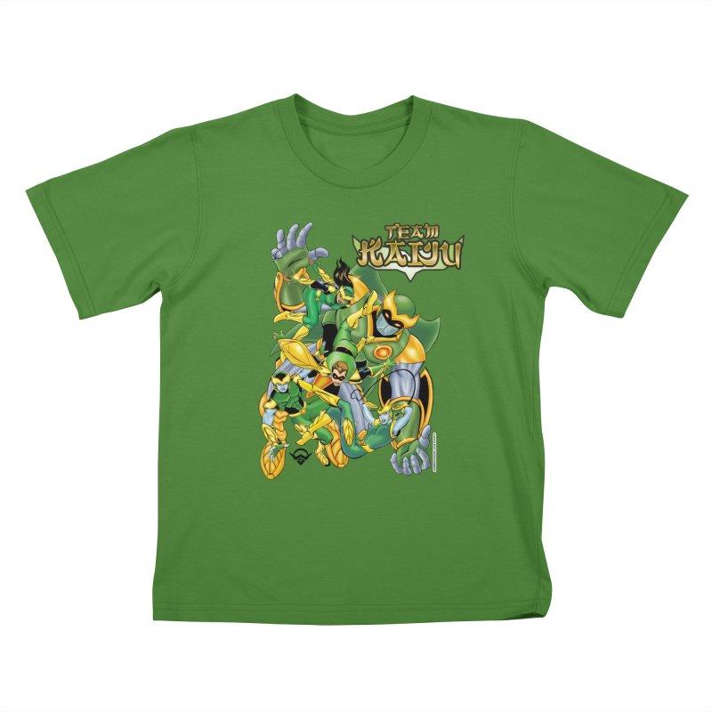 Team Kaiju Falling  Kids T-Shirt by The8spot's Artist Shop