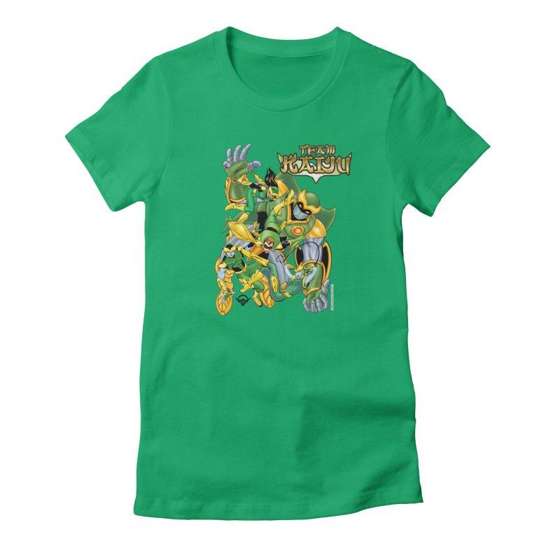 Team Kaiju Falling  Women's T-Shirt by The8spot's Artist Shop