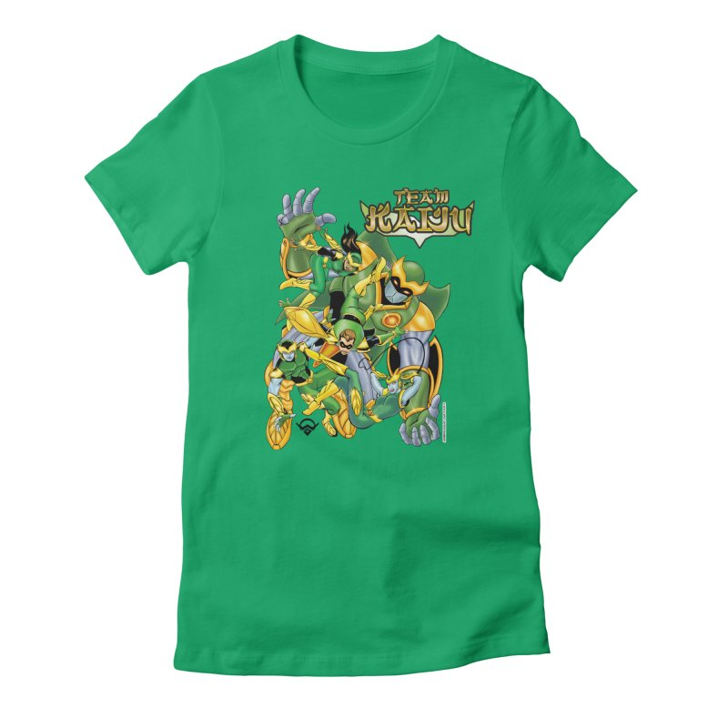 Team Kaiju Falling  Women's Fitted T-Shirt by The8spot's Artist Shop