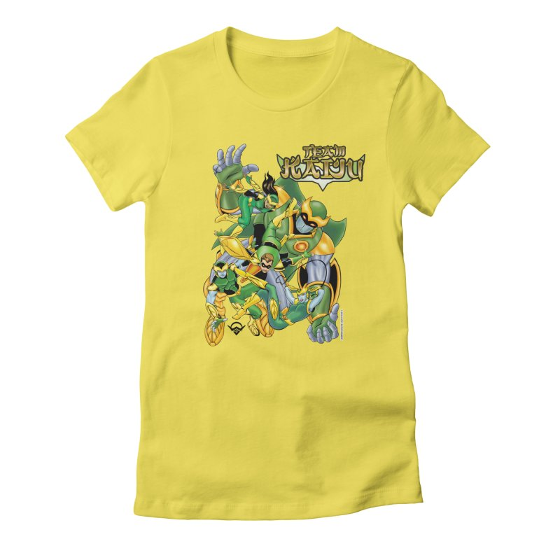Team Kaiju Falling  Women's Fitted T-Shirt by The8spot's Artist Shop