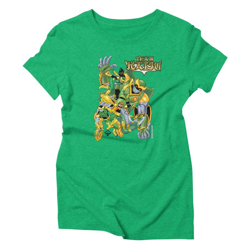 Team Kaiju Falling  Women's Triblend T-Shirt by The8spot's Artist Shop