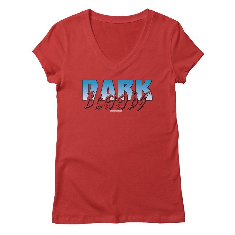 Dark Blood Logo Shirt Women's Regular V-Neck by The8spot's Artist Shop