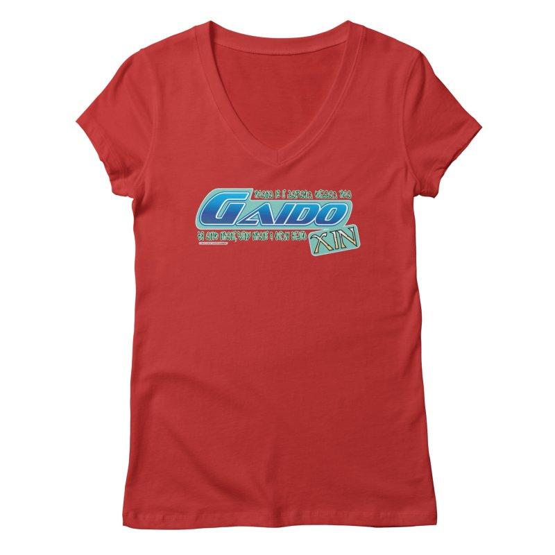 Gaido Xin Logo Shirt Women's V-Neck by The8spot's Artist Shop