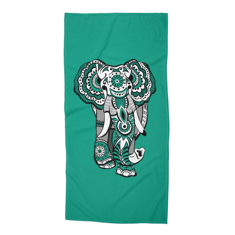 Elle 1 - Color Accessories Beach Towel by The Artful Cricket