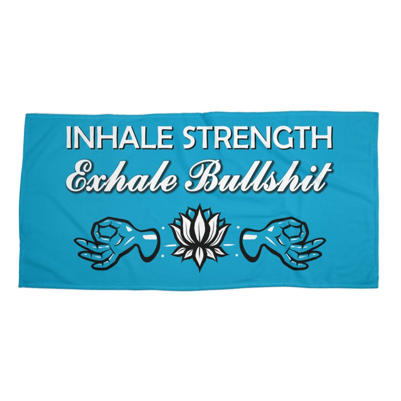 Just Breathe Accessories Beach Towel by The Artful Cricket