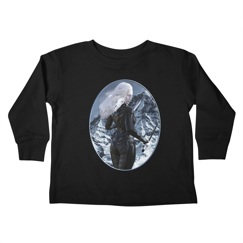 ROTI - Sal in the Snow Kids Toddler Longsleeve T-Shirt by The Book Muse's Shop