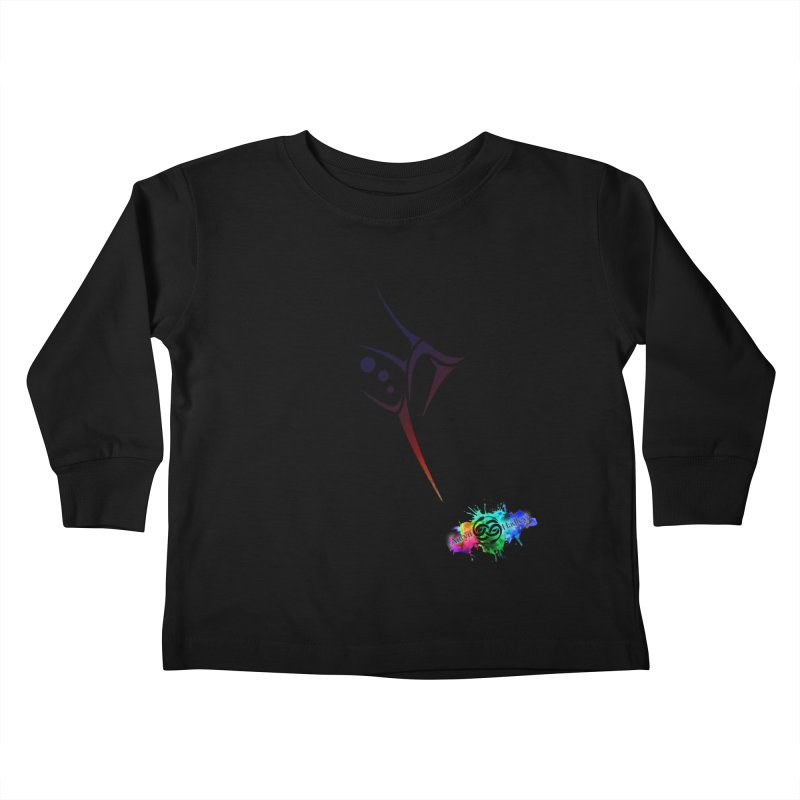 Ayati (Colorful) Kids Toddler Longsleeve T-Shirt by The Book Muse's Shop