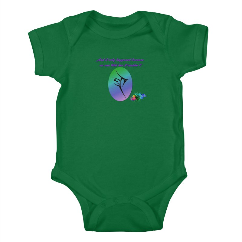 And it only happened... Kids Baby Bodysuit by The Book Muse's Shop