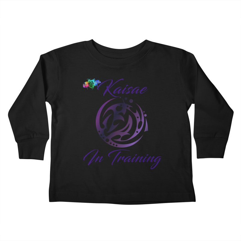 Kaisae In Training Kids Toddler Longsleeve T-Shirt by The Book Muse's Shop