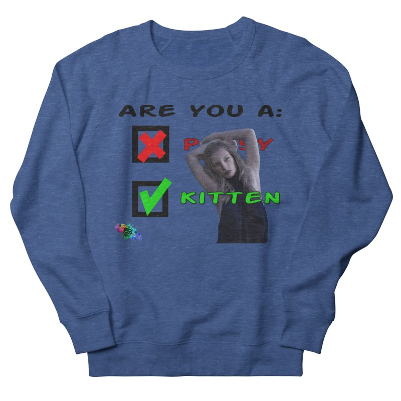 Pussy or Kitten? Men's Sweatshirt by The Book Muse's Shop