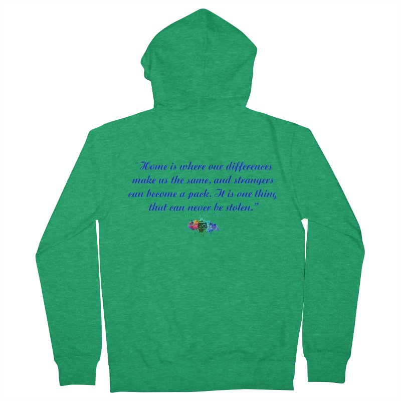 Home Quote Men's Zip-Up Hoody by The Book Muse's Shop