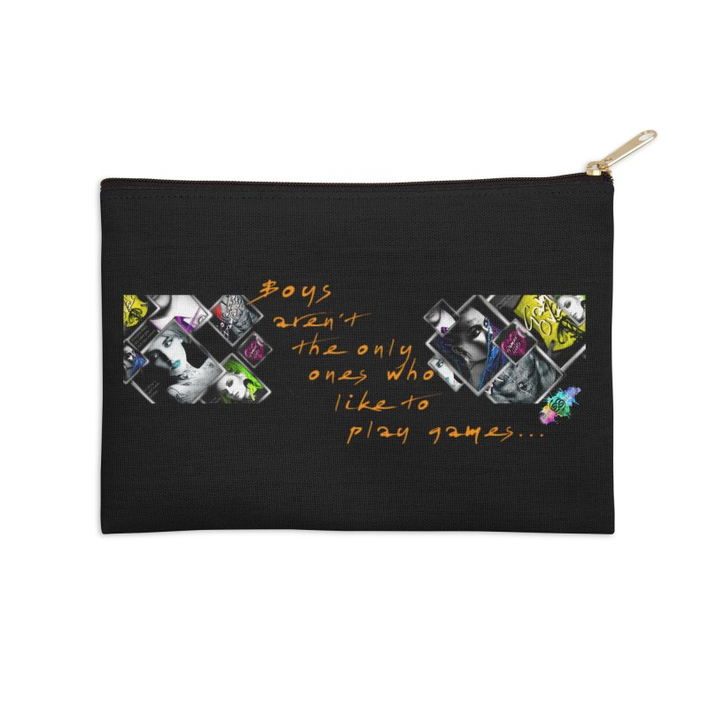 Gamer Girls quote Accessories Zip Pouch by The Book Muse's Shop