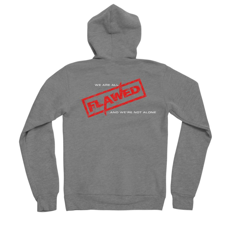 We are all Flawed...and we're not alone Men's Zip-Up Hoody by The Book Muse's Shop